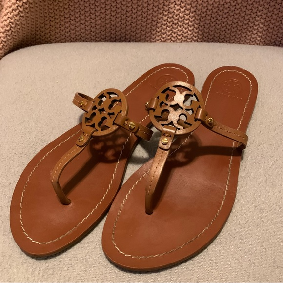 Tory Burch Shoes - Tory Burch Brown Mini Miller Gabriel Flat Sandal